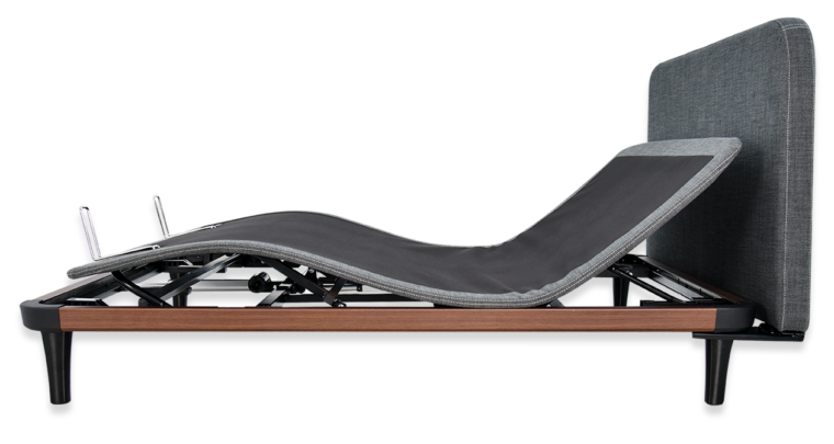 ergoslim bed side view with zero g position